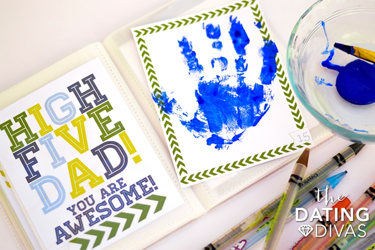 Father's Day crafts with kids hand prints