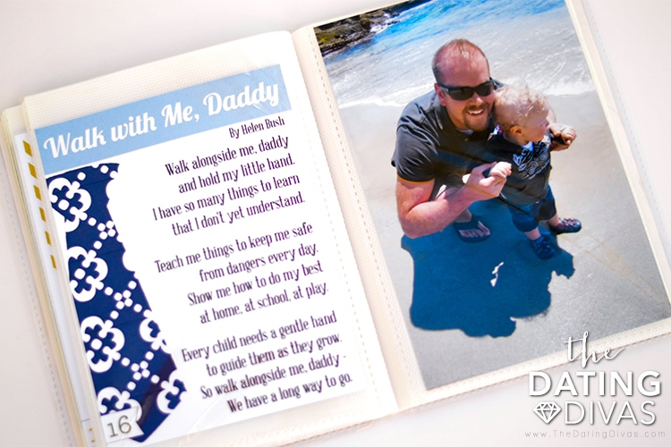 Fathers day crafts - picture memory book