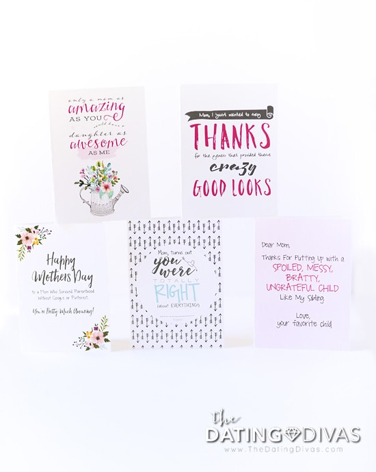 image relating to Free Printable Funny Mothers Day Cards named 5 Humorous Moms Working day Playing cards - Versus The Relationship Divas