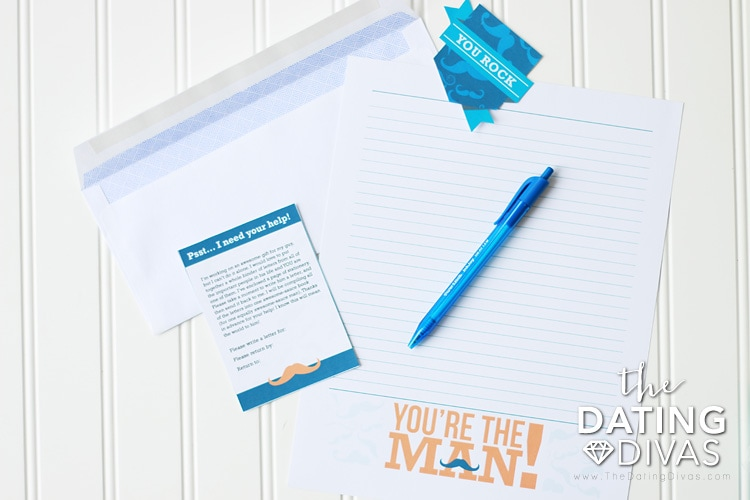 Gifts for Your Guy Surprise Letter.