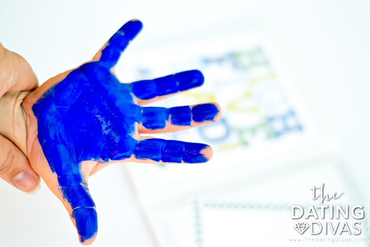DIY Father's Day crafts with Hand Print