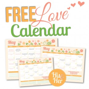May 2016 Love Calendar