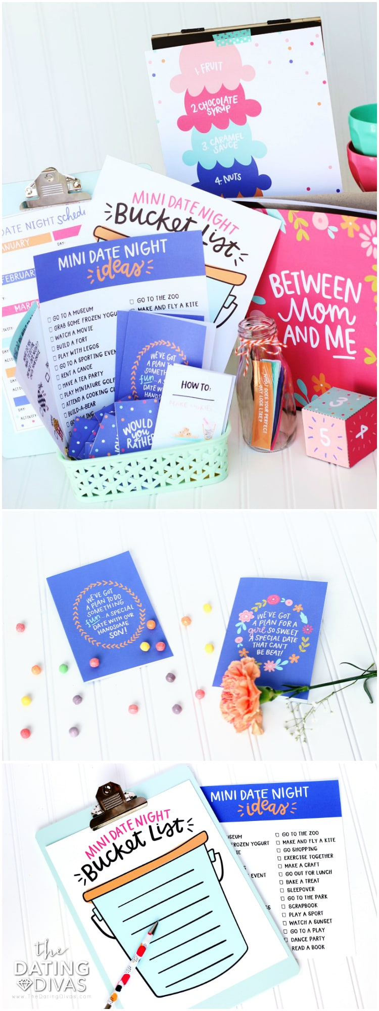 Mini Mom and Dad Dates Kit Contents
