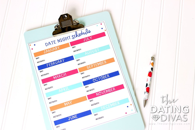 Mini Mom and Dad Dates Schedule