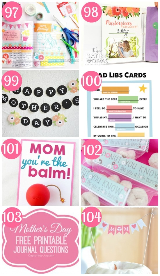 Mother's Day Printables Gift Ideas