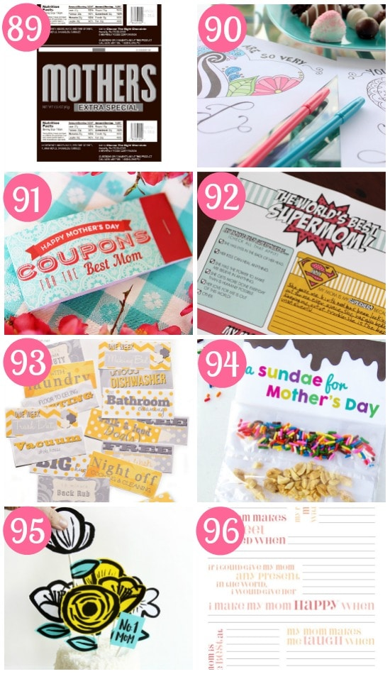 Mother's Day Printables Gifts
