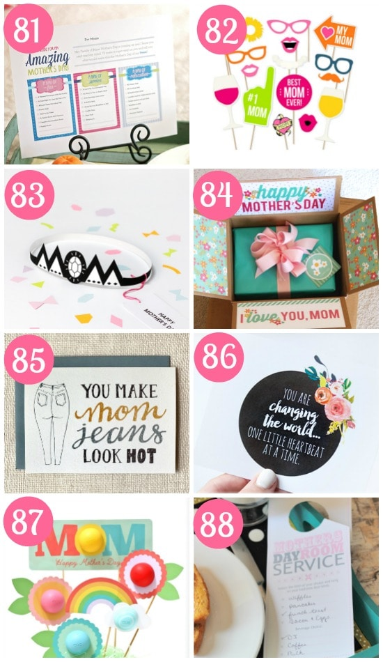 Printable Mother's Day Ideas