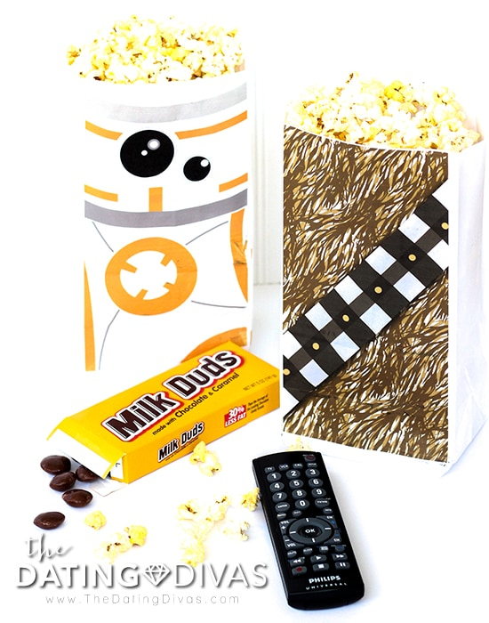 Star Wars Movie Date Printable Popcorn Bags
