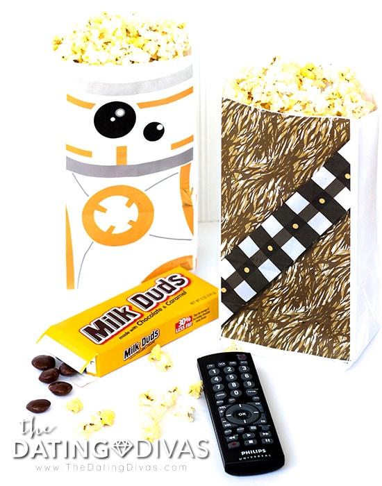 Star Wars Movie Date Printable Popcorn Bags