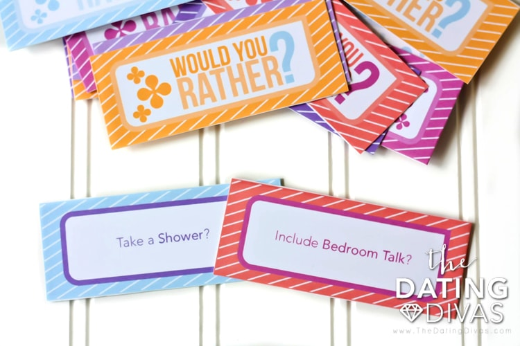 would you rather dating divas 101 ways to say thank you : the dating divas  game night here we come i love 'would you rather' and i can't wait to play the intimate game with my hubby.