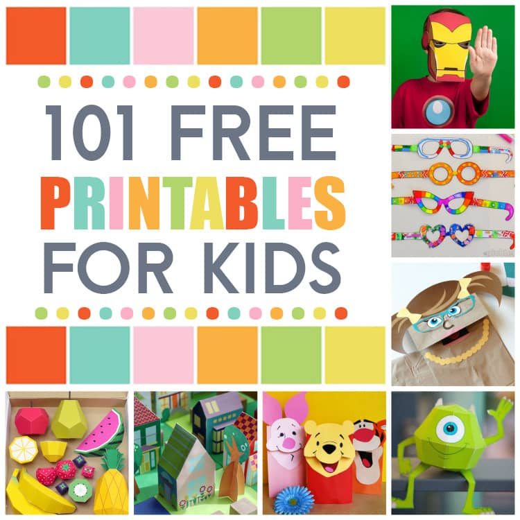 101 Free Printables For Kids! - The Dating Divas