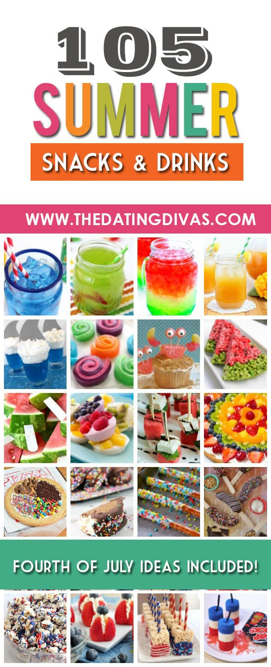 Summer snacks for the whole family! SO many yummy snack ideas! #TheDatingDivas #SummerSnacks