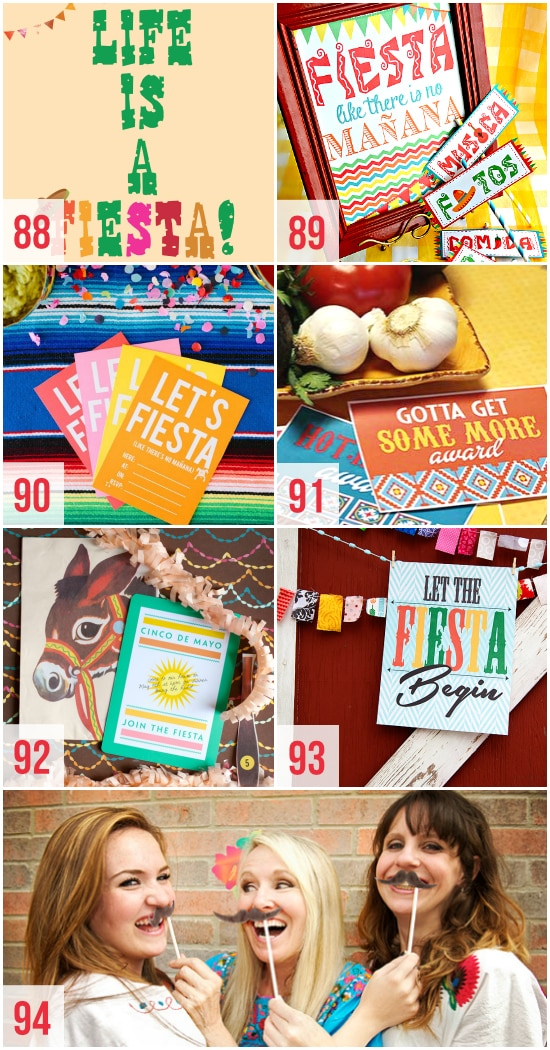 Printables for Cinco de Mayo Fiesta