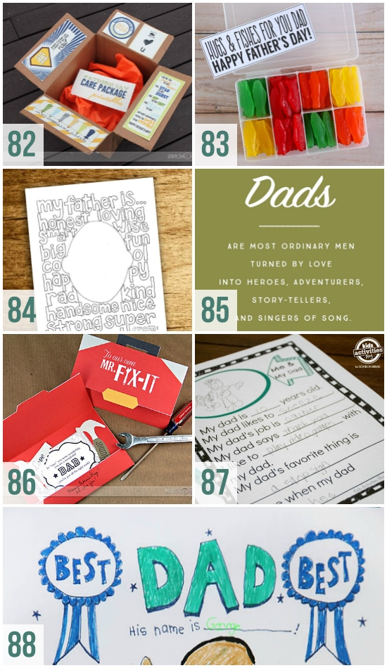 Printable Ideas for Father's Day
