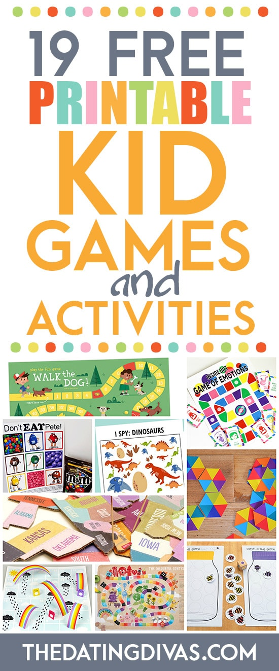Free Activites and Printable Games for Kids