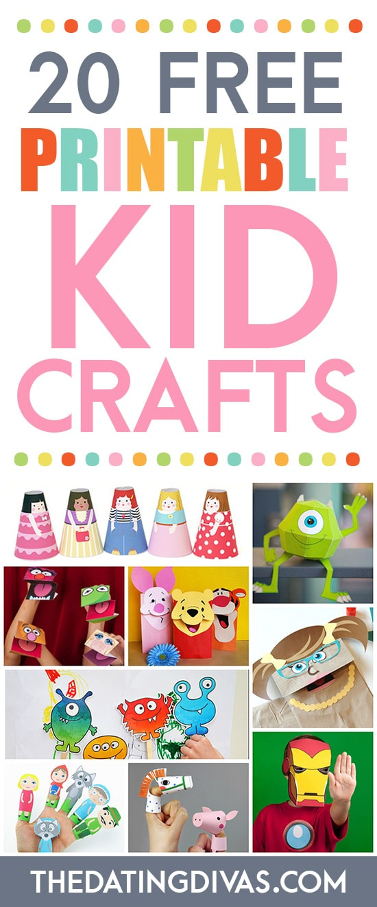 picture about Printable Kid Crafts known as 101 Totally free Printables for Little ones - Against The Courting Divas