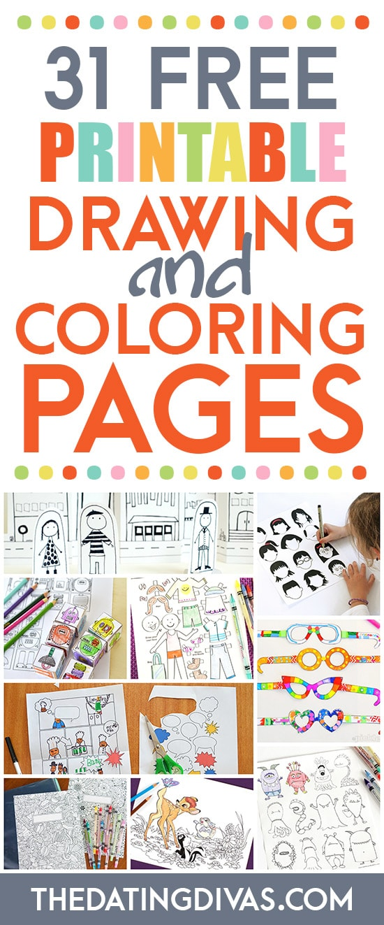 Drawing and Coloring Free Printables for Kids