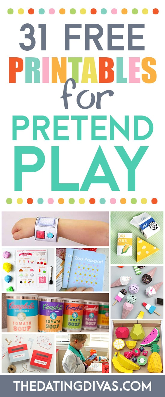 31 Free Printables for Pretend Play