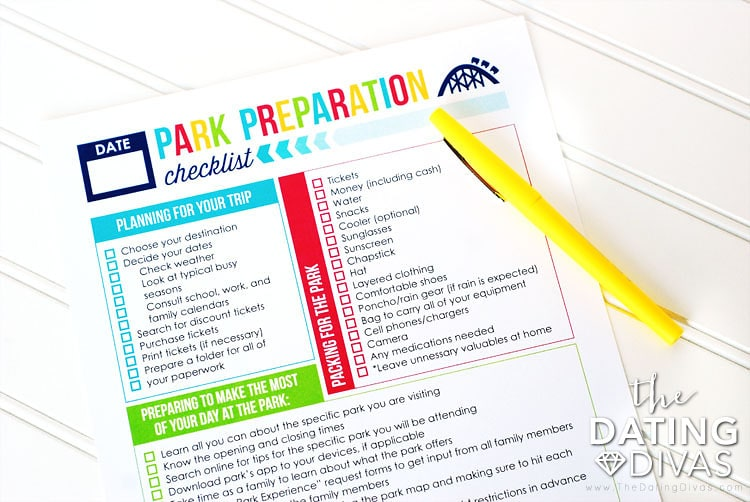 Amusement Park Packing Checklist