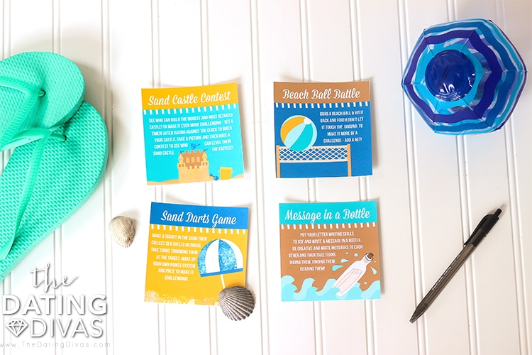 Beach Date Activity Cards