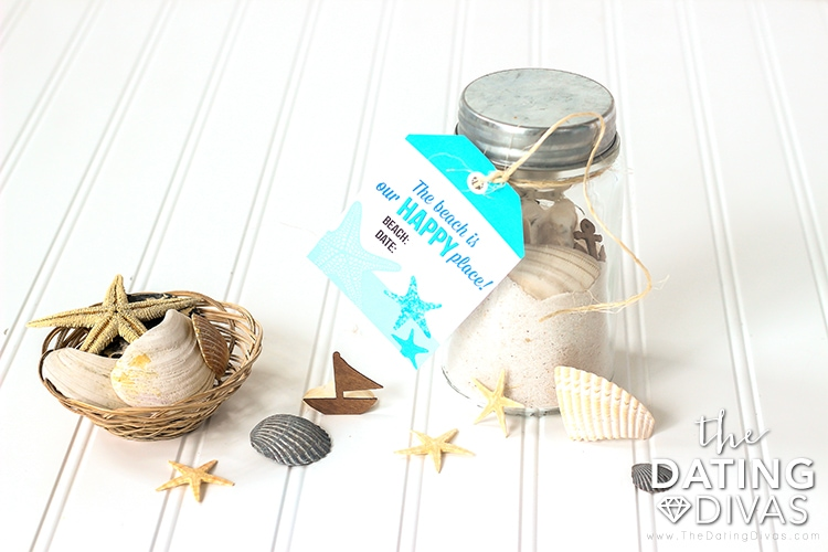 Beach Date Memory Jar Tags