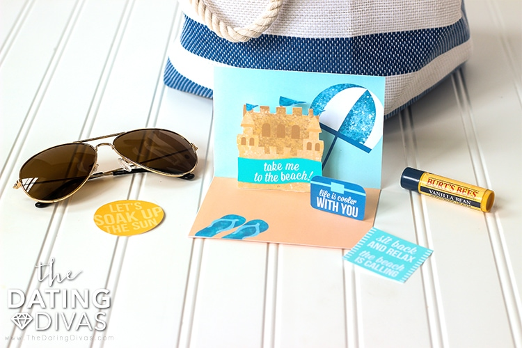 Beach Date Pop-Out Invitation