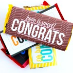 """Congrats!"" Candy Bar Wrappers"