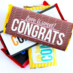 "Free Printable ""Congrats!"" Candy Bar Wrappers"