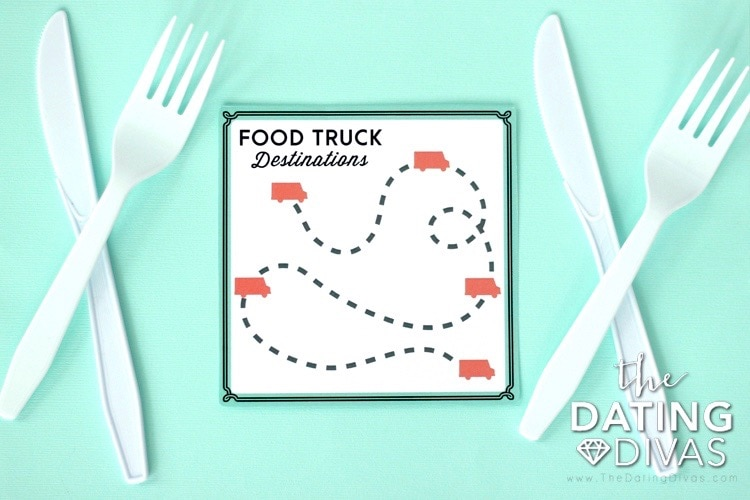 Food Truck Date Night Route Map
