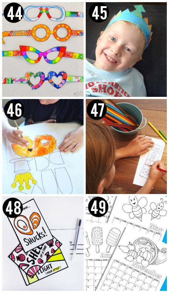 Free Art Printables for Kids