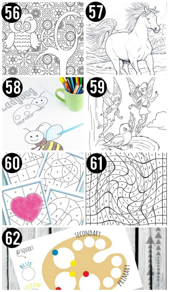 Free Printables for Kids and Coloring Pages