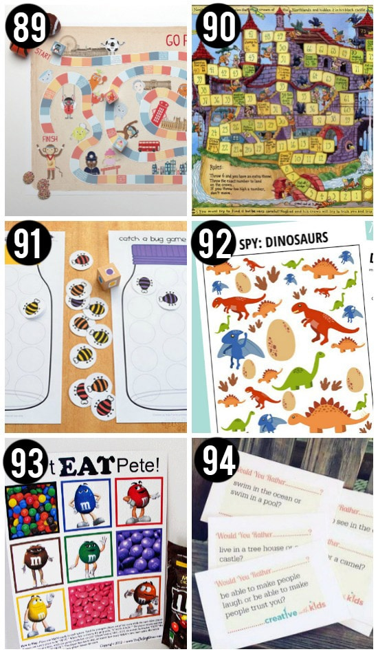 Free Printable Kid Games