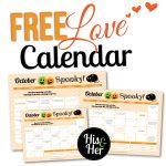 2016 October Love Calendar