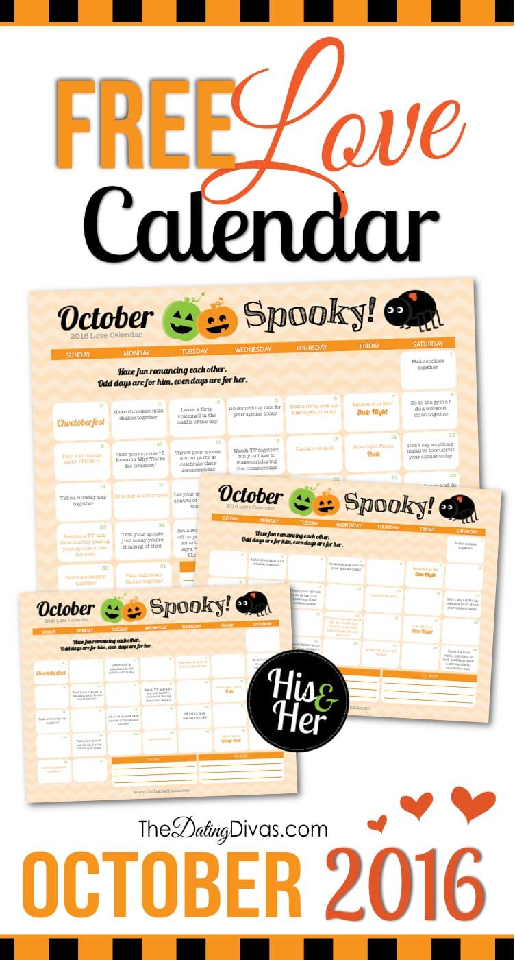 Romantic Calendar Ideas : October love calendar the dating divas