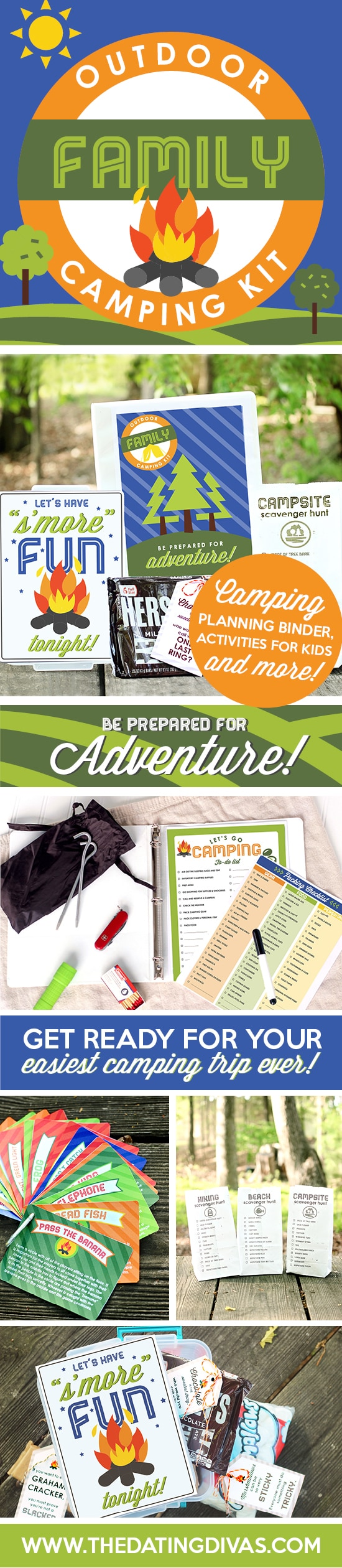 In LOVE with this family camping trip kit! Makes it so easy to stay organized and take advantage of all the perks of camping with your kids! #TheDatingDivas #CampingTrip #Camping