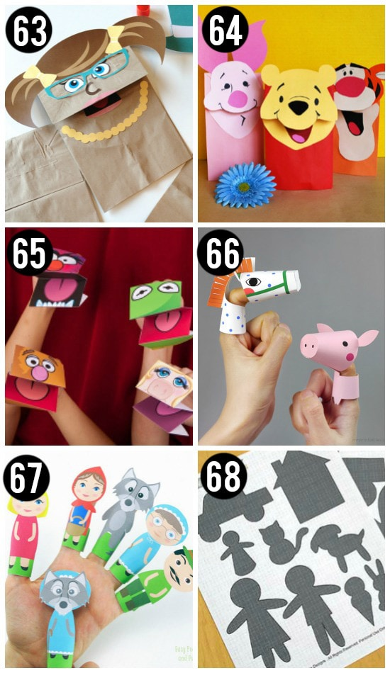 Puppet Printable Activites for Kids