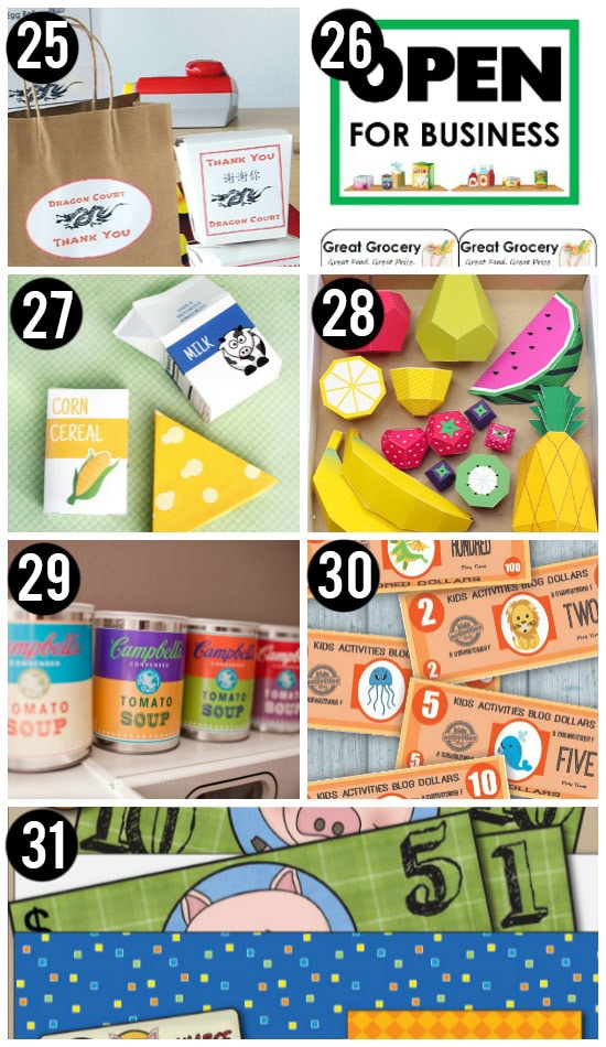 Food Activites and Free Printables for Kids