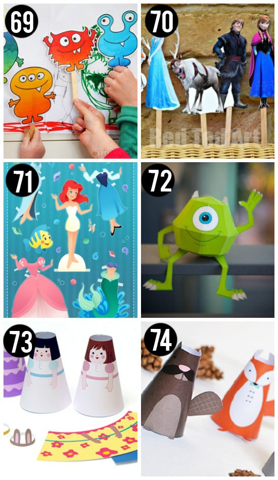 Printable Puppets and Paper Dolls