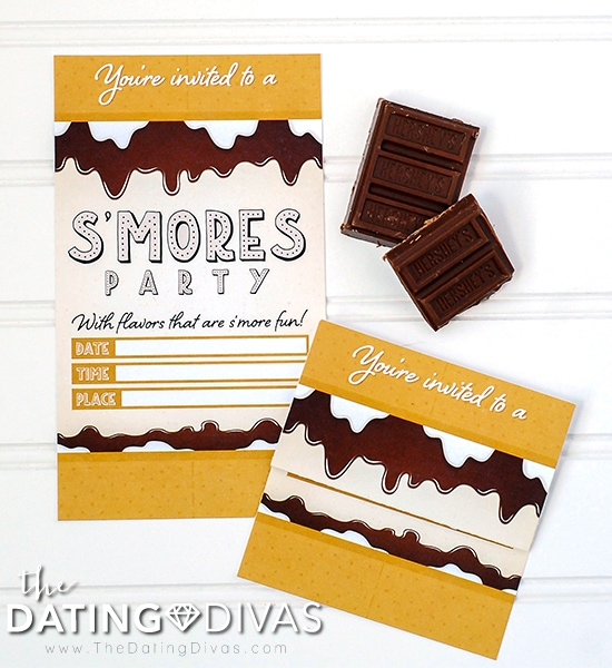 Smores Bar Date Night Invitation
