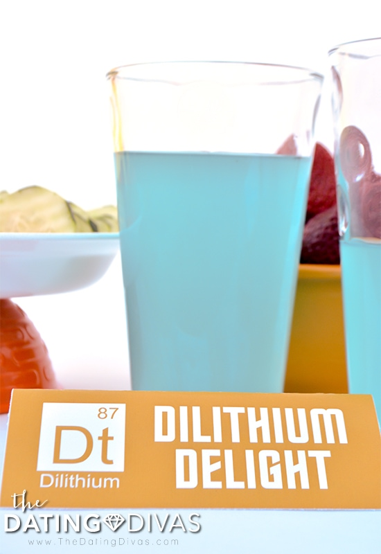 Dilithium Delight Food Tent for Star Trek Themed Date