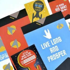 Gorgeous printables for Star Trek Date Nights