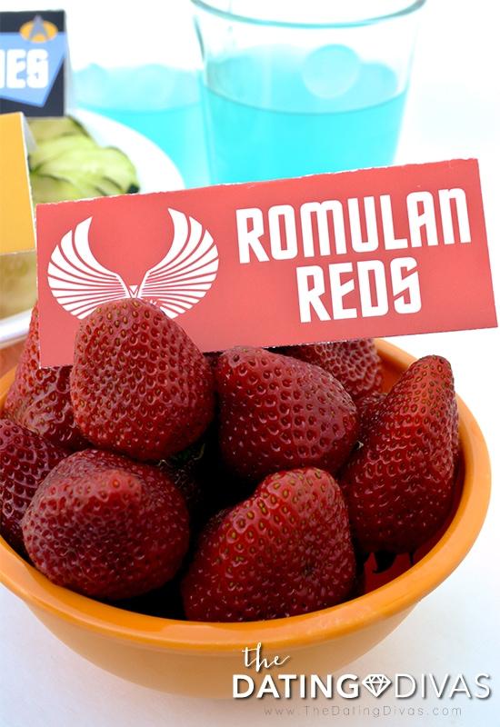 Romulan Reds Berry Food Tent for Star Trek Date Night