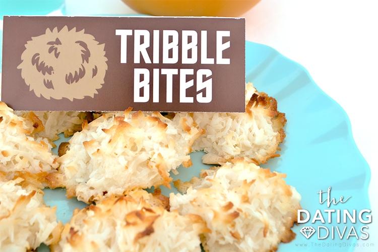 Coconut Macaron Tribble Bite Food Tent for Star Trek Date Night
