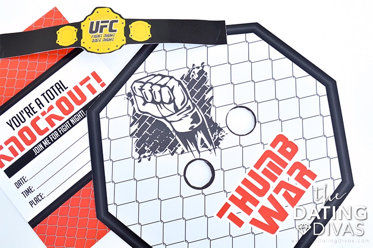 Enjoy a fun thumb war with this UFC fight night date night printable.