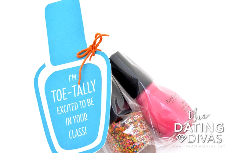 Fun nail polish tag for the new school year.