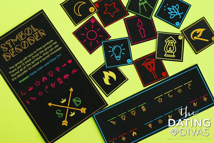 After-Dark Scavenger Hunt Symbol Decoder