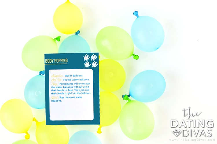 Balloon Popping Water Game