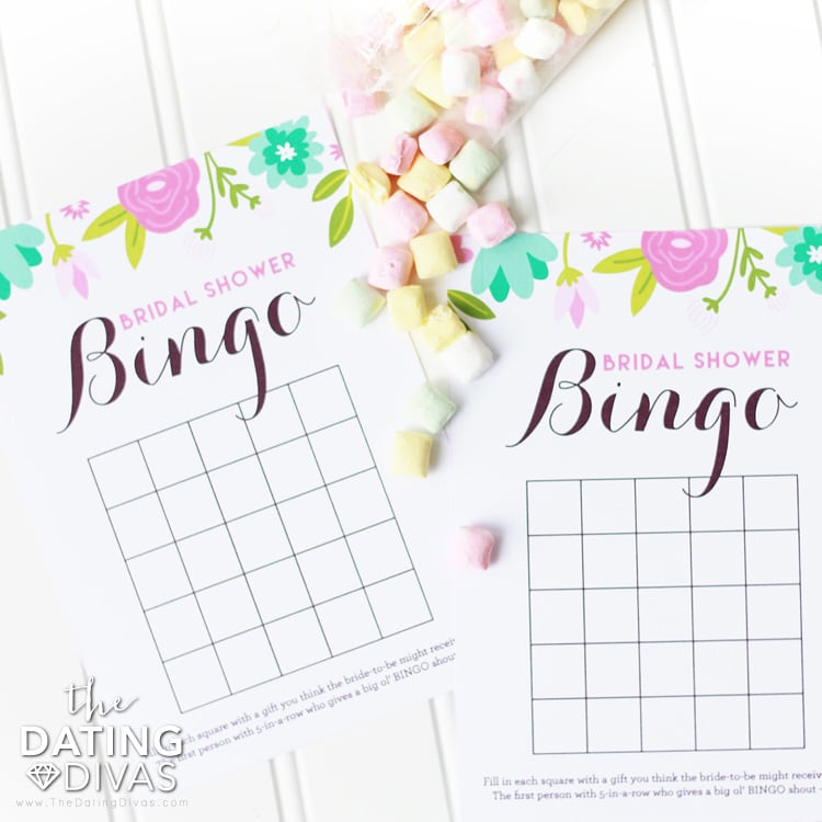 Bridal Shower Printables Bingo Cards