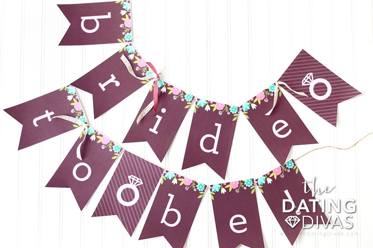 Bridal Shower Printables Bride to be Banner