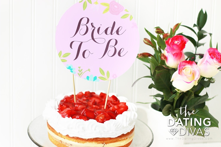 Bridal Shower Printables Cake Topper